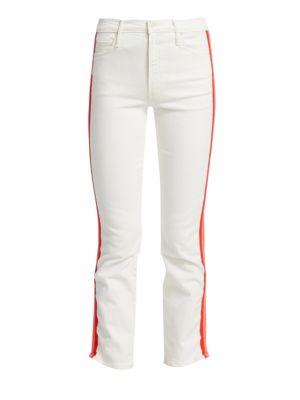 MOTHER - Dazzler Crop Racing Stripe Jeans