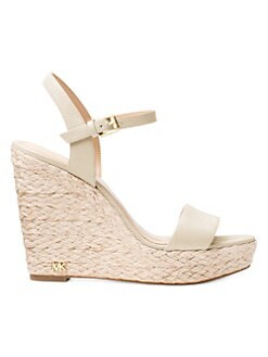 0b811a25ec MICHAEL Michael Kors. Jill Leather Wedge Sandals