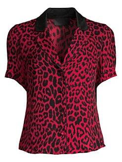 f88843065 RtA. Flynn Leopard Silk Blouse