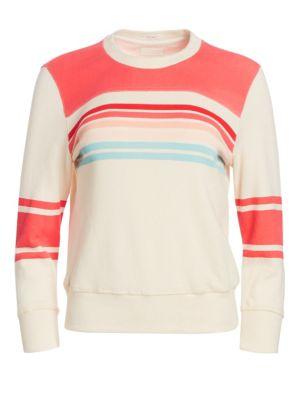 Mother T-shirts Koozie Half-Stripe Cotton Sweatshirt