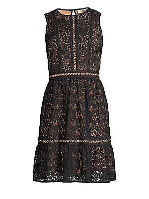 f1163a7475 Alice + Olivia - Adelaide Metallic Sheath Dress - saks.com