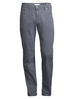 0f963d5d5162 Bugatti. Regular-Fit Stretch-Cotton Pants