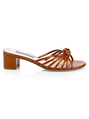 5f715a046 Tory Burch - Miller Leather Logo Thong Sandals - saks.com