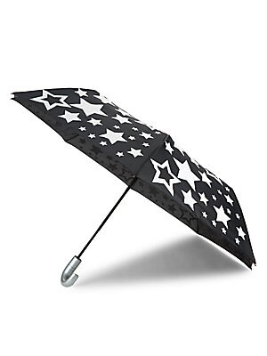 "Image of A bold allover star print adds whimsy to this umbrella. Aluminum/polyurethane Imported SIZE Closed: 2.5""W x 14""H Open: 44""W x 23""H. Children's Wear - Infant Toys And Gifts > Saks Fifth Avenue. Bari Lynn."