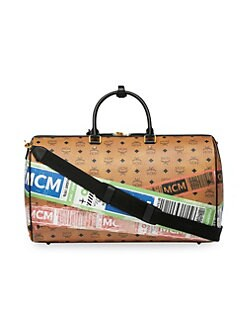 561f89ebb86 MCM - Traveller Flight-Print Visetos Weekender