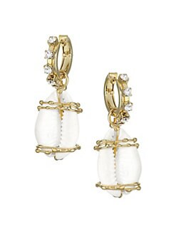 9bdb7a6b1 Product image. QUICK VIEW. Rosantica. Beatrix Shell & Crystal Drop Earrings
