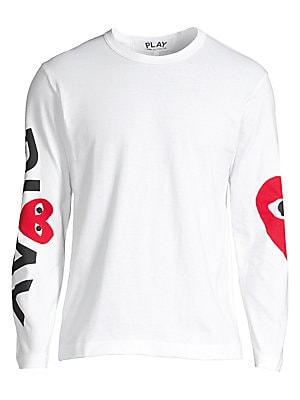 7eb7233b68ee Comme des Garcons Play - Play Logo Long-Sleeve Cotton Tee