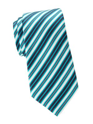 Kiton Ties Diagonal Stripe Silk Tie