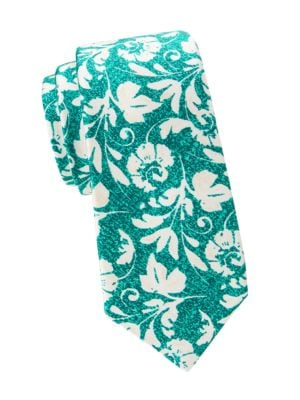 Kiton Ties Large Floral Silk Tie