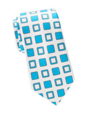 Kiton Ties Diagonal Box Silk Tie
