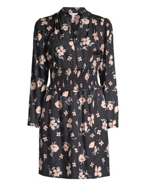 Rebecca Taylor Dresses Daniella Long-Sleeve Floral Silk-Blend Dress