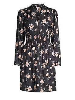 31b765c2fdc4 Product image. QUICK VIEW. Rebecca Taylor. Daniella Long-Sleeve Floral Silk-Blend  Dress