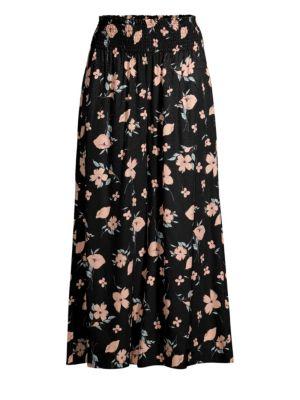 Rebecca Taylor Pants Daniella Smocked Floral Pants