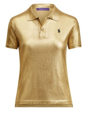 Ralph Lauren Tops Gold Lacquer Pony Polo Tee