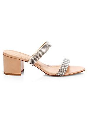 469254b69091 Schutz - Mahla Strass Leather   Crystal Sandals