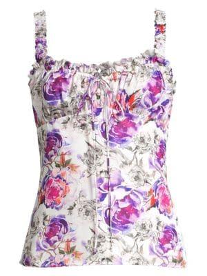 65ef173177b3d Fleur du Mal - Strapless Floral Lace Bustier - saks.com