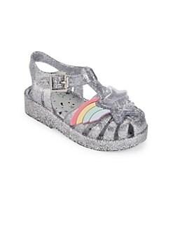 f9498c1316d Mini Melissa. Baby Girl s   Little Girl s Possession Glitter Sandals