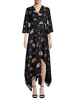 28cc4dc9996 Solace London. Darlina Asymmetric Floral Dress