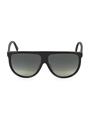 883f273159 CELINE - 58MM Flat Top Pilot Sunglasses - saks.com