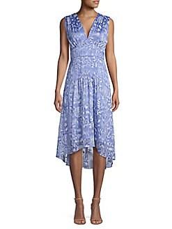 b89d0ebaf591 Elie Tahari. Celeste Floral Empire Waist A-Line Dress