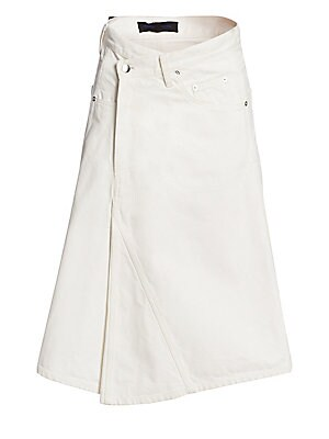 Asymmetric A Line Denim Skirt by Proenza Schouler