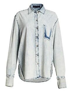 dc720a4d904a Proenza Schouler. Deconstructed Wash Denim Shirt