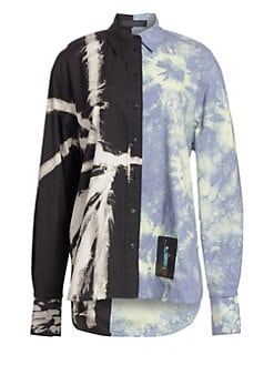 1449672b8 QUICK VIEW. Proenza Schouler. Long Sleeve Multi Tie-Dye Shirt