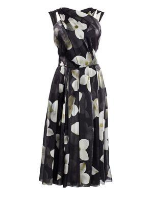 Ralph Lauren Dresses Carthage Belted Floral Organza Halterneck Dress