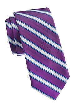 4ae1fc0f0659 Saks Fifth Avenue. COLLECTION Diagonal-Stripe Silk Tie