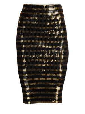 5f717e29e02a7 Ralph Lauren Collection Sequin Striped Pencil Skirt