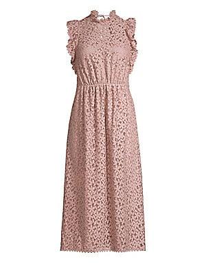 eb4297b00 Kate Spade New York - Marker Floral Puff-Sleeve Midi Dress - saks.com