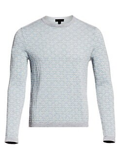 Jack Spade Ny Mens Sweater Grey White Cotton Ribbed Long Sleeves Crew Neck Sz L Products Are Sold Without Limitations Clothing, Shoes & Accessories