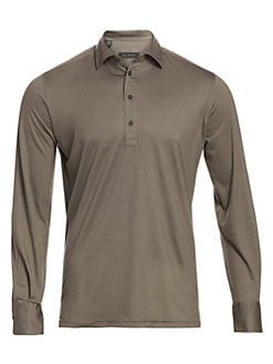 36441f46 QUICK VIEW. Saks Fifth Avenue. COLLECTION Virgin Wool Long-Sleeve Polo