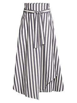 fb64a92834 Product image. QUICK VIEW. Weekend Max Mara. Biella Stripe Wrap  Handkerchief Skirt. $315.00 · Eloisa Plaid Cotton Long Skirt FUCHSIA
