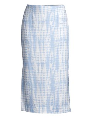 Staud Skirts Penny Tie-Dye Midi Skirt
