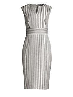 b5e25f55c33 Product image. QUICK VIEW. Max Mara. Caraffa Pinstripe Sleeveless Sheath  Dress