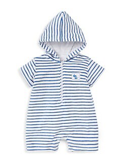 c4a4e820ce Baby Boy s Striped Hooded Terry Romper BLUE. QUICK VIEW. Product image.  QUICK VIEW. Kissy Kissy
