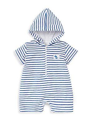 Kissy Kissy Baby Boys City Demo Stripe Jacket With Hood