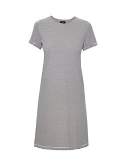 bcd5a3f2e8e Product image. QUICK VIEW. Theory. Continuous Striped Tee Dress. Was  $295.00 Now $177.00 · Linen-Blend Shift Dress BLACK