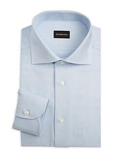 8006efc6 Geometric Textured Dress Shirt BLUE. QUICK VIEW. Product image