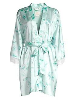 4e9ea38fc29 Kate Spade New York. Bridal Floral Lace Trim Robe
