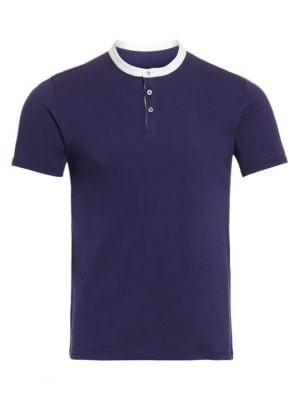 Saks Fifth Avenue Modern Mandarin Collar Tee