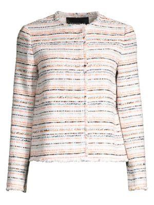 Lafayette 148 Jackets Albano Striped Tweed Jacket