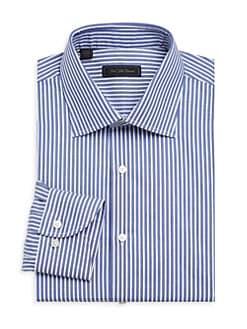 f0e7bdd29da85d Saks Fifth Avenue. COLLECTION Bengal Stripe Dress Shirt
