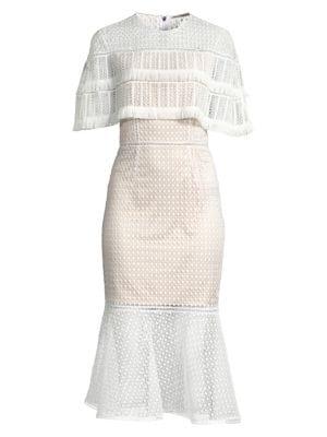 Elie Tahari Dresses Janine Crochet Midi Dress