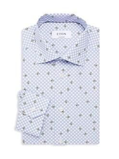 4a6eb5adc0 Contemporary-Fit Avocado Print Dress Shirt BLUE. QUICK VIEW. Product image