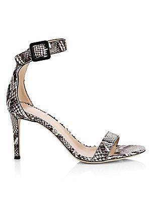 eab1ac89c Sam Edelman - Ariella Leather Snake-Print Stiletto Sandals - saks.com