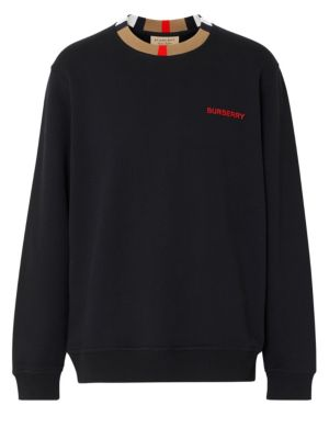 Burberry Icon Stripe Collar Sweatshirt