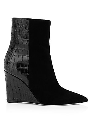 2078b2b4ebaa5 Giuseppe Zanotti - Mixed Media Wedge Bootie - saks.com