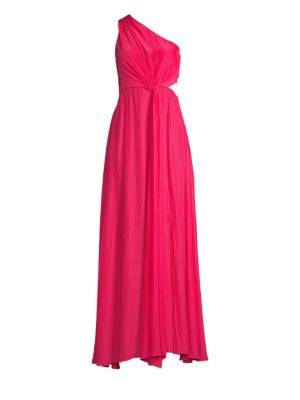 Ramy Brook Linley Knotted One Shoulder Gown